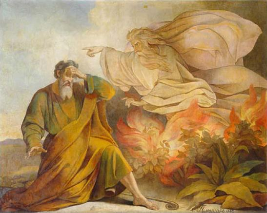 Moses, Burning Bush, Pluchart