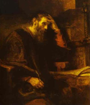The Apostle Paul by Rembrandt 1657 - early spiritual autobiography